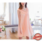 Peach Lace Chemise Nightdress Slip Nightie Nightwear Sleepwear Dress Lingerie