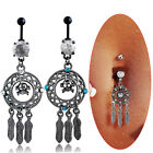 Feather Dreamcatcher Belly Button Ring Native American Navel Piercing Jewelry