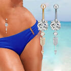 Archery Arrow Belly Button Ring  Piercing Barbell Body Jewelry Surgical Steel