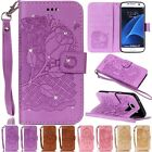 Diamond Embossing Stand Wallet Flip Cards Leather Case Cover For Samsung Phone