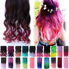 High Light Hairpiece Straight Clip In Hair Multi Color Curly Wig Fashion