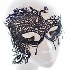 Chic Lady Black Lace Eye Face Mask Masquerade Ball Prom Halloween Costume Party