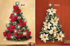 POINSETTIA CHRISTMAS TREE WALL HOLIDAY LIGHTED DECORATION DISPLAY