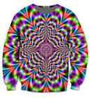 Fashion Men/Women's Trippy Wave Tie Dye Funny 3D Print Sweatshirt hoodies KA60