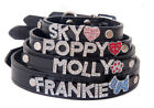 Personalised Dog Collar with rhinestone letters and free charm - you choose name
