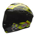 BELL STAR Isle Of Man BLACK YELLOW FULL FACE MULTI COMPOSITE SHELL HELMET