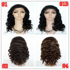 100% Brazilian Virgin Human Hair Body Wave Lace Front Wig Glueless Remy Hair
