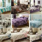 Complete Duvet Bedding Set +PillowCases +Fitted Sheet 4 PC BUY 1 Get 1 FREE GIFT