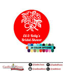 Roses - Round Personalized Bridal Shower/Wedding Sticker Labels 20 colors