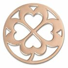 coin SHAMROCK, rose gold plated, stainless steel jewelry, original Amello ESC507
