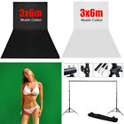 Photo Screen 3x6m Black/White/Green Backdrop OR Background Support Stand Kit AU