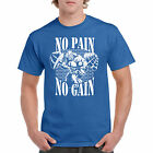T Shirt No Pain S Gain Workout Tee Gym Gift Fitness Beast Muscle Dad Health New