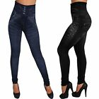 Push Up Slim TV Werbung Leggins Hose Jeans Optik Leggings Jeggings Treggings
