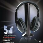 5 in 1 Wireless Stereo Strong Signal FM Radio Headphone Cordless Headset for MP3