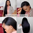 Women's Human Hair Wigs Lace Front Silky Straight Full Lace Indian Remy Hair Wig