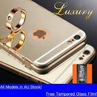 AU 360° Full Body Shockproof Case Metal effect Mirror Cover For iPhone 6s 7 Plus