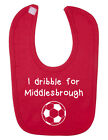 I Dribble For Middlesbrough Baby Bib. English Football. New Born Baby.