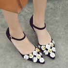 Vogue Women Lady Flora Pointy Toe Pump Shoes Stiletto Heel Ankle Strappy Size