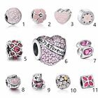 Pink Jewelry European charm Silver bead For S925 Bracelet/Necklace Chain UK big
