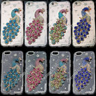 Bling 3D Peacock Transparent TPU Soft Ultra Thin Back Case Cover Skin #4 M13
