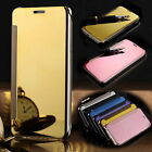Gloss Clear View UV Coating Mirror Flip Phone Cases SAMSUNG Galaxy S7,EDGE
