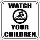 WATCH YOUR CHILDREN Pool Sign Laser Engraved - FREE SHIPPING