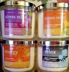 BATH & BODY WORKS AROMATHERAPY SPA CANDLES STRESS RELIEF ENERGY RELAX SENSUAL