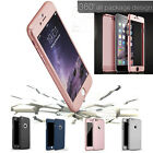 NEW 360° Hybrid Ultra Thin Case + Tempered Glass Cover for iphone 5 6 7 7+ Gift