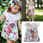 Girls Floral Lace Sleeveless Dress Kids Summer Party Dresses Age 1-5 Years New
