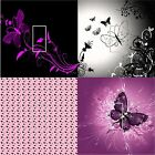 LIGHT SWITCH COVER VINYL STICKER SKIN PLATE BUTTERFLY PURPLE PLANT BLACK WHITE