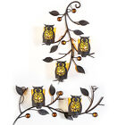 OWL TEALIGHT HOLDER WALL HANGING CANDLE NIGHT HOME DINING ROOM HOLDERS