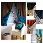 Reversible LUXURY Faux Silk Curtains Slot Top TWO COLOURS IN ONE CURTAIN *SALE*