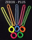 NEW NEON BEADS NECKLACE &12 GUMMY BANGLES  80s FANCY DRESS DANCE PARTY