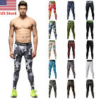 Mens Compression Pants Bodybuilding Jogger Fitness Exercise Skinny Leggings Camo