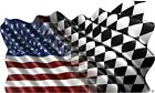 American Checkered Flag decal Camper RV motor home mural graphic
