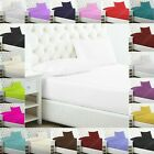 Plain Dyed Poly Cotton Bed Sheet Extra Deep Fitted Or Flat Sheets In All Sizes image