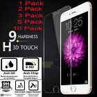 Lot X 9H Real Premium Tempered Glass Screen Protector for iPhone 7 / 6S/ 6/ Plus