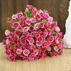 1 Bouquet 21 Tint Head Artifical Fake Rose Weeding Party Home Decor Silk Flower