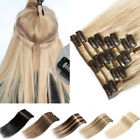 """100% Real Human Hair Full Head Clip in Remy Hair Extensions 16""""-22"""" Blonde A193"""