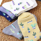 Plant Cactus Pattern Women Girls Socks Comfortable Lovely Cotton Casual Warm Sox