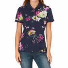 Joules Womens Trinity Polo Shirt in French Navy Floral - Size 8