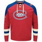 NHL Sweater MONTREAL CANADIENS Vintage Pullover Crewneck Lace-Up Sweatshirt