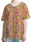 Mushrooms Poppies Paisley Women V Neck Elbow Sleeve Tee T-shirt b106 acq02626