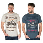 Mens Cargo Bay Los Angeles Printed Design Cotton Crew Neck T-Shirt - M to 2XL