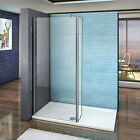 Aica L Shape Wet Room Shower Screen Enclosure Panel 8mm NANO Glass 1200mm Bar