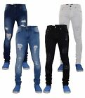 Mens True Face Ripped Skinny & Slim Stretch Designer Cotton Denim Jeans