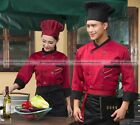 Kitchen 3/4 Sleeve Chef Uniform Chef Jacket Coat Cooker Work Clothing S1