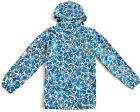 LADIES BREATHABLE WATERPROOF JACKET Womens blue flower print hiking camping mac