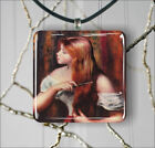 GIRL STYLING HER HAIR BY RENOIR PENDANT NECKLACE 3 SIZES CHOICE -fju7Z
