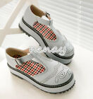 Womens Brogue Carved Casual Flats T-Strapy Lolita Shoe Sweet Plateform Shoes New